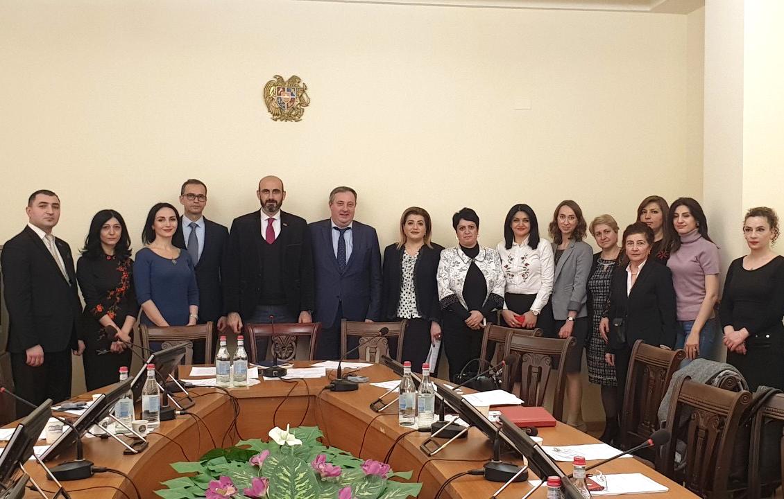 Armenian parliamentarians launch the Armenian TB Caucus during bilateral visit