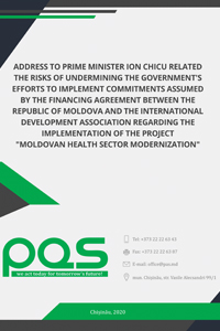 Address to Prime Minister Ion Chicu related the risks of undermining the Government's efforts to implement commitments assumed by the Financing Agreement between the Republic of Moldova and the International Development Association