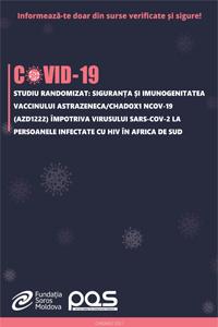 Studiu randomizat: Siguranța și imunogenitatea vaccinului AstraZeneca/ChAdOx1 nCoV-19 (AZD1222) împotriva virusului SARS-CoV-2 la persoanele infectate cu  HIV  în Africa de Sud