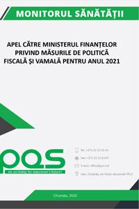 Apel către Ministerul Finanțelor privind măsurile de politică fiscală și vamală pentru anul 2021