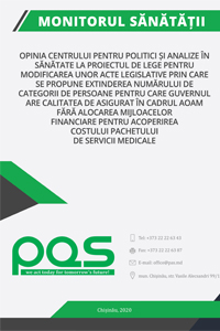Opinia Centrului pentru Politici și Analize în Sănătate la proiectul de lege pentru modificarea unor acte legislative prin care se propune extinderea numărului de categorii de persoane pentru care Guvernul are calitatea de asigurat în cadrul AOAM fără alocarea mijloacelor financiare pentru acoperirea costului pachetului de servicii medicale