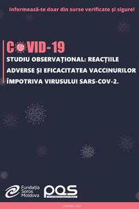 Studiu observațional: Reacțiile adverse și eficacitatea vaccinurilor împotriva virusului SARS-CoV-2