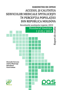 Barometru de opinie. Accesul şi calitatea serviciilor medicale spitaliceşti în percepţia populaţiei din Republica Moldova.