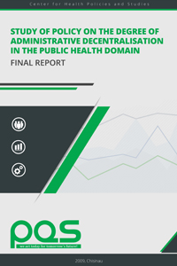 Study of Policy on the Degree of Administrative Decentralisation in the Public Health Domain