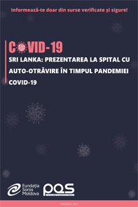 Sri Lanka: Prezentarea la spital cu auto-otrăvire în timpul pandemiei COVID-19