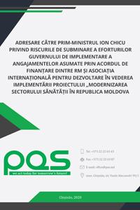 Adresare către prim-ministrul Ion Chicu privind riscurile de subminare a eforturilor Guvernului de implementare a angajamentelor asumate prin Acordul de finanțare dintre RM și Asociația Internațională pentru Dezvoltare