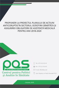 Propuneri la proiectul Planului de acțiuni anticorupție în sectorul ocrotirii sănătății și asigurării obligatorii de asistență medicală pentru anii 2018-2020