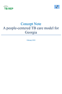 Concept Note -  A people-centered TB care model for Georgia