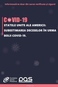 Statele Unite ale Americii: Subestimarea deceselor în urma bolii COVID-19