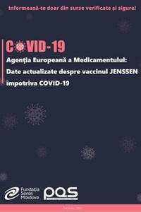 Agenţia Europeană a Medicamentului: Date actualizate despre vaccinul JENSSEN împotriva COVID-19